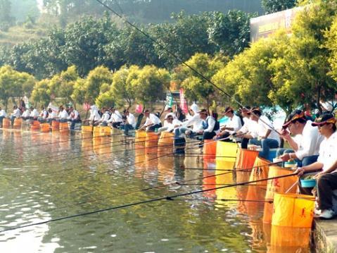 河北省第十五届运动会钓鱼比赛在落下帷幕